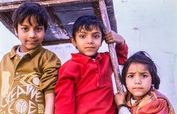 街道孩子德里印度 免版税库存照片