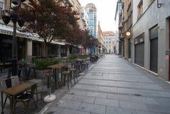街道室外咖啡馆在贝尔格莱德 免版税库存图片