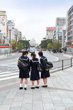 街道导致姬路城堡,日本 库存照片