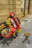 街道小丑 库存照片