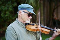 街道小提琴手 免版税库存照片