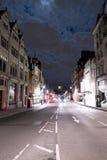 街道峡谷白厅伦敦在夜之前 免版税库存照片
