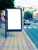 街道广告牌 免版税库存照片