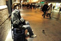 街道执行者在马德里西班牙 库存照片