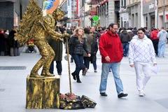 街道执行者在马德里西班牙 免版税库存照片