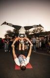 街道执行者在Dia De在构成的Los Muertos 免版税库存图片