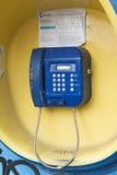 街道投币式公用电话特写镜头 库存照片