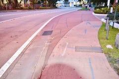 街道排水设备供水系统佛罗里达美国 库存图片