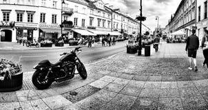 街道摄影 在黑白的艺术性的神色 库存照片