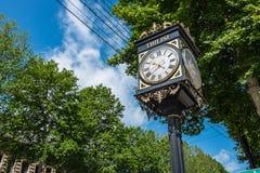 街道时钟第比利斯乔治亚欧洲 库存图片