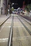 街道汽车轨道街市坦帕 库存图片