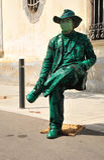 街道演员。 巴塞罗那。 库存图片