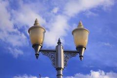 街道火场面柱子  库存照片