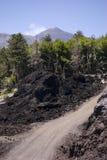 街道火山 库存图片
