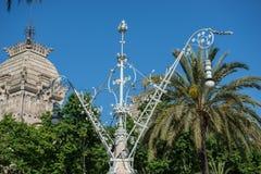 街道灯笼在巴塞罗那 库存图片