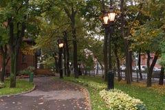 街道照明灯笼。莫斯科,俄罗斯 库存照片