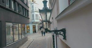 街道照明老式灯  影视素材