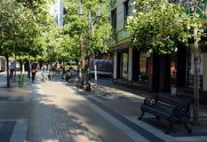 街道现代圣地亚哥 库存图片