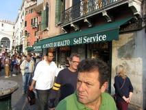 街道生活在威尼斯意大利 库存照片