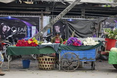 街道生活在曼德勒,缅甸 免版税库存照片