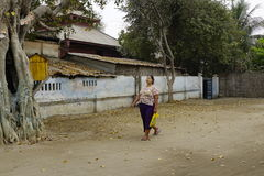 街道生活在曼德勒,缅甸 免版税库存图片