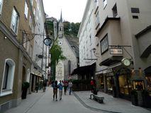 街道生活在萨尔茨堡,奥地利 库存图片