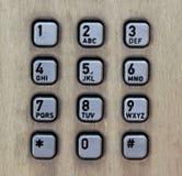 街道电话箱子的金属按钮 库存图片