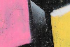 街道画上色墙壁背景的片段纹理 图库摄影