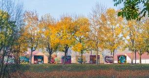 街道画喷雾器的自由墙壁在雷根斯堡,德国 库存图片