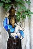 街道画在奥尔戈索洛,撒丁岛 皇族释放例证