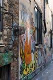 街道画在布里斯托尔2019年5月14日包括墙壁 库存照片