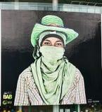 街道画在曼谷,泰国 免版税库存图片
