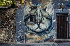 街道画在贝尔格莱德 免版税库存图片