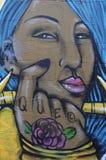 街道画墙壁在菲尼斯亚利桑那 免版税图库摄影