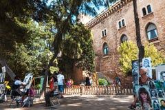 街道画家在Mallorca 图库摄影