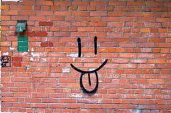 街道画微笑 免版税库存图片
