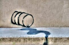 街道画漏油 免版税图库摄影