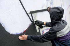 街道画画家 免版税库存照片