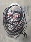 街道画艺术,布加勒斯特,罗马尼亚 免版税库存图片