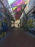 街道画艺术n波士顿 库存照片