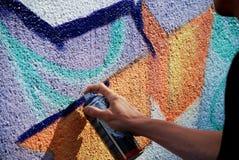 街道画进展 库存照片