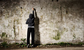 街道画青年时期 免版税库存图片