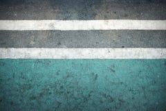 街道白色和绿色背景 库存图片