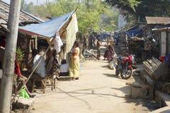 街道的人们在Bandarban,孟加拉国 图库摄影