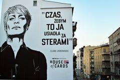 给街道的壁画Netflix做广告 库存图片