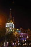 街道的夜视图 图库摄影