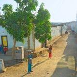 街道的孩子 免版税库存图片
