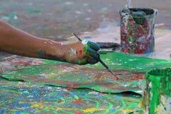街道的艺术家 图库摄影