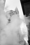 从街道的蒸气地下在NYC 图库摄影