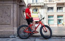 街道的骑自行车的人 免版税图库摄影